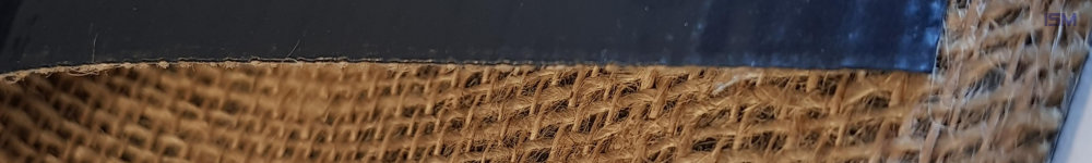 Jute extruded with LDPE, black, and PE