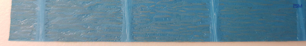 Soda crepe paper extruded with fabric and PE, blue