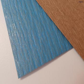 Soda crepe paper extruded with PE, blue